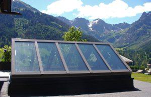 Alu-Satteldach mit Bergblick im Allgäu