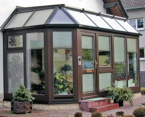 "Wintergarten als Hauseingang, Modell ""Hawaii"""
