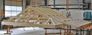 Holz-Alu Dach-Fertigung