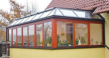 "Holz-Alu-Wintergarten Modell ""Hawaii"""