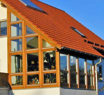 Holz-Wintergarten