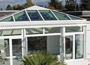 Viktorianischer Wintergarten im Dachgeschoss