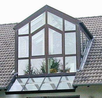 Wintergarten als Dachgaube
