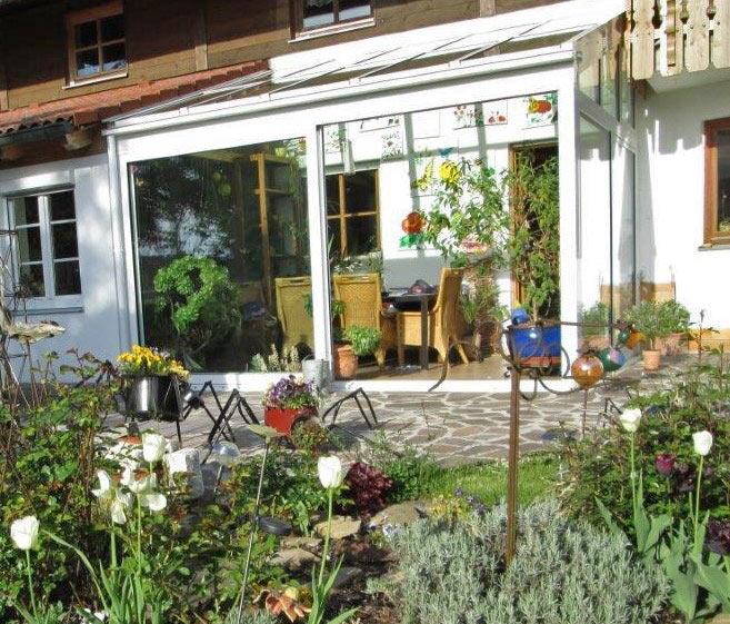 Wohnwintergarten mit Pultdach, Bauernhaus in Wonneberg bei Waging am See